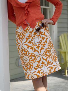 Betz white easy breezy skirt