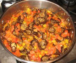 Polenta veggies