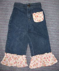 Refashioned girl pants