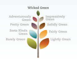 Practically green website - green ratings