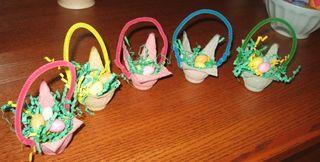Egg carton easter baskets