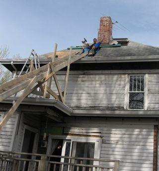Boys on roof