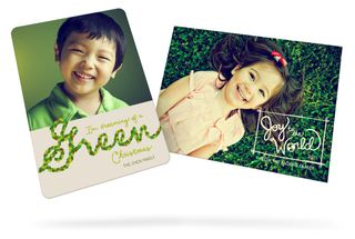 Pear tree greetings green cards