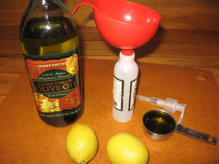 Lemon olive oil furniture polish