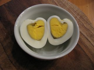 Fun food - heart eggs