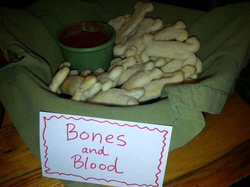 Halloween bones and blood