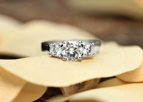 Brilliant Earth Three Stone Diamond Trellis Ring