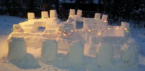 Snow fort cropped