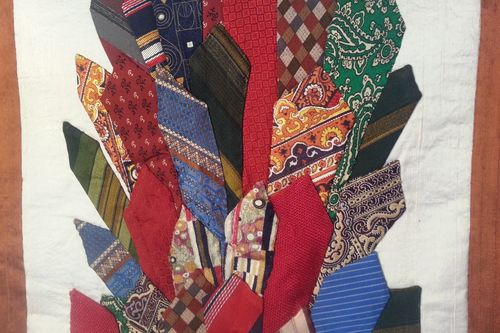 Necktie wall hanging detail