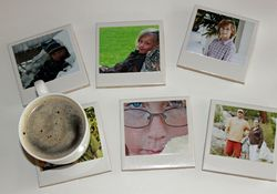 Sweet Greens photo coasters