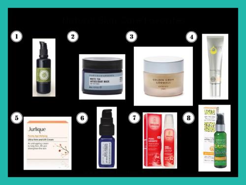 Inspiration board - natural skin care