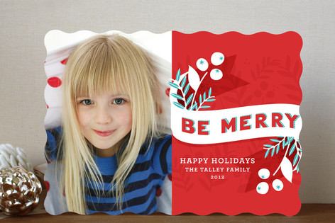 Minted be merry photo card