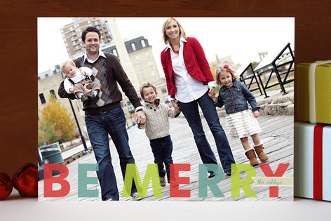 Minted be merry card