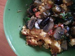 Polenta with veggies
