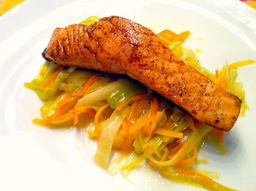 Salmon dinner by foodfreak via flickr