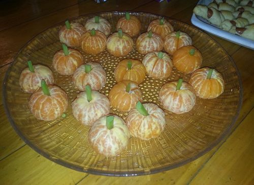 Halloween orange pumpkins